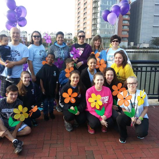 Volleyball team at the 2014 Walk to End Alzheimer's. Photo: David Lee